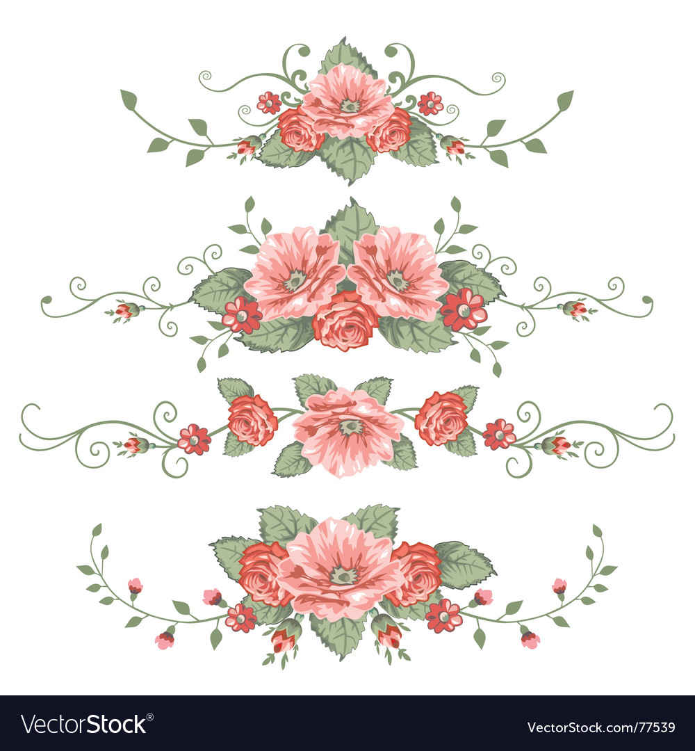 Set of rose vector | Price: 1 Credit (USD $1)