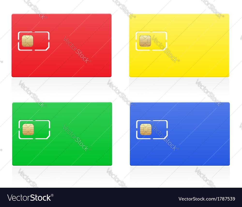 Sim card 04 vector | Price: 1 Credit (USD $1)