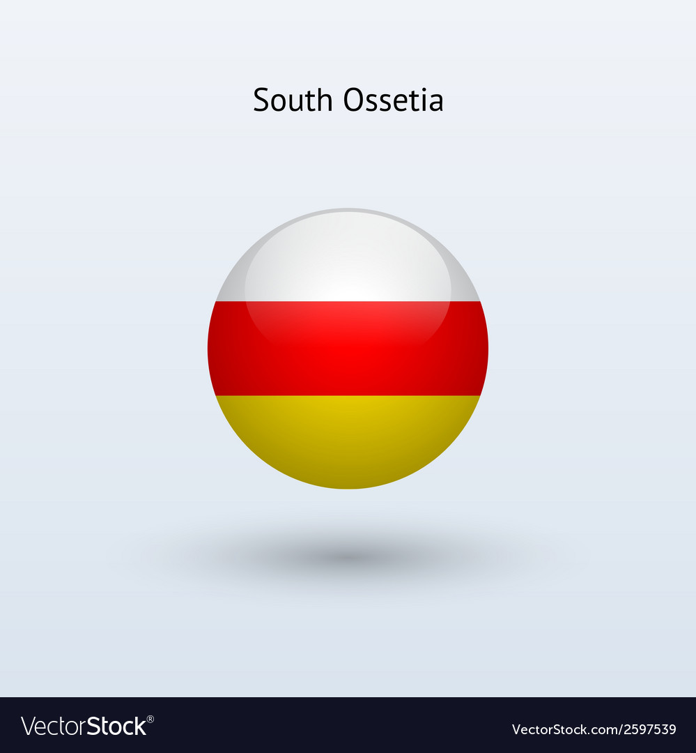 South ossetia round flag vector | Price: 1 Credit (USD $1)