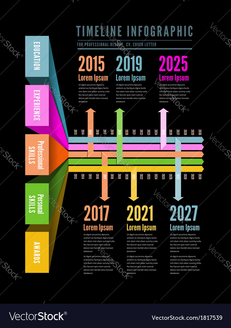 Timeline web element template vector | Price: 1 Credit (USD $1)