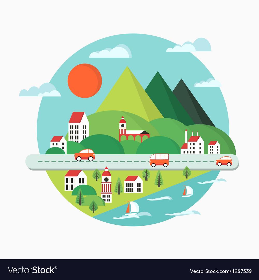 Urban landscape vector | Price: 3 Credit (USD $3)
