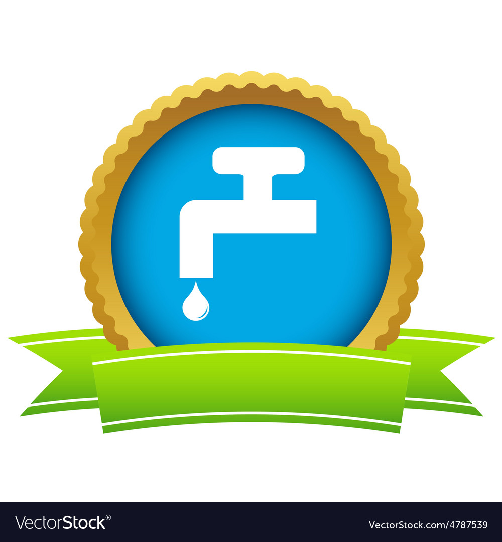 Watertap round icon vector | Price: 1 Credit (USD $1)