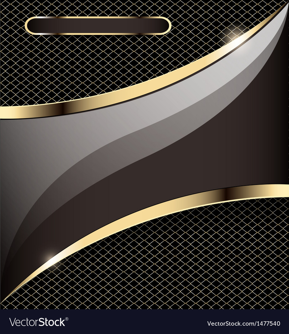 Background with a gold stripe vector | Price: 1 Credit (USD $1)