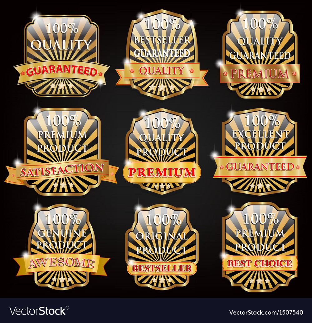 Badge design set vector | Price: 1 Credit (USD $1)