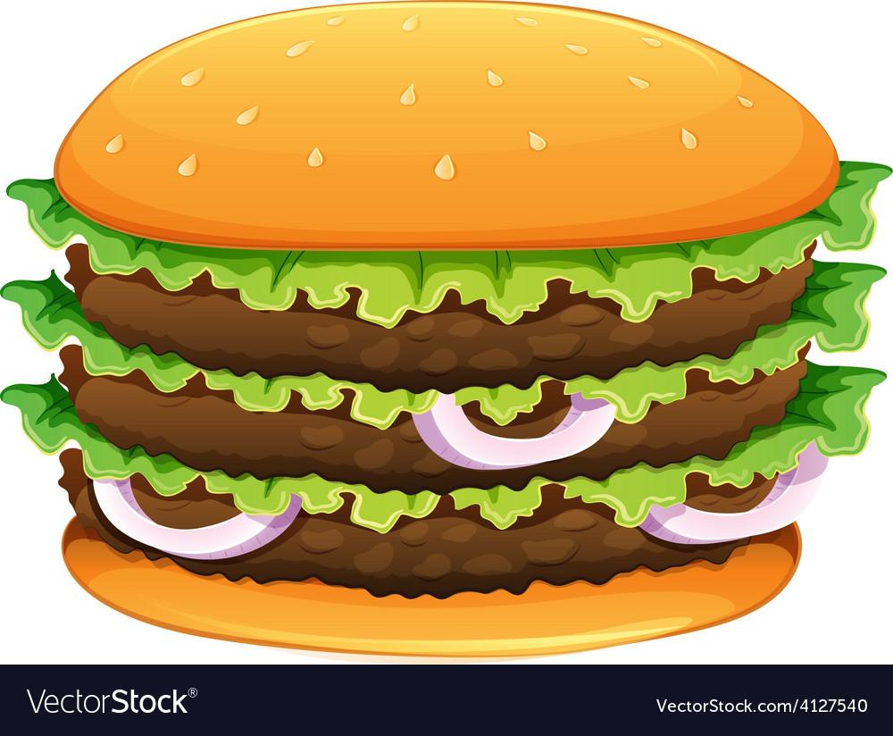 Big hamburger with sesame seeds vector | Price: 1 Credit (USD $1)