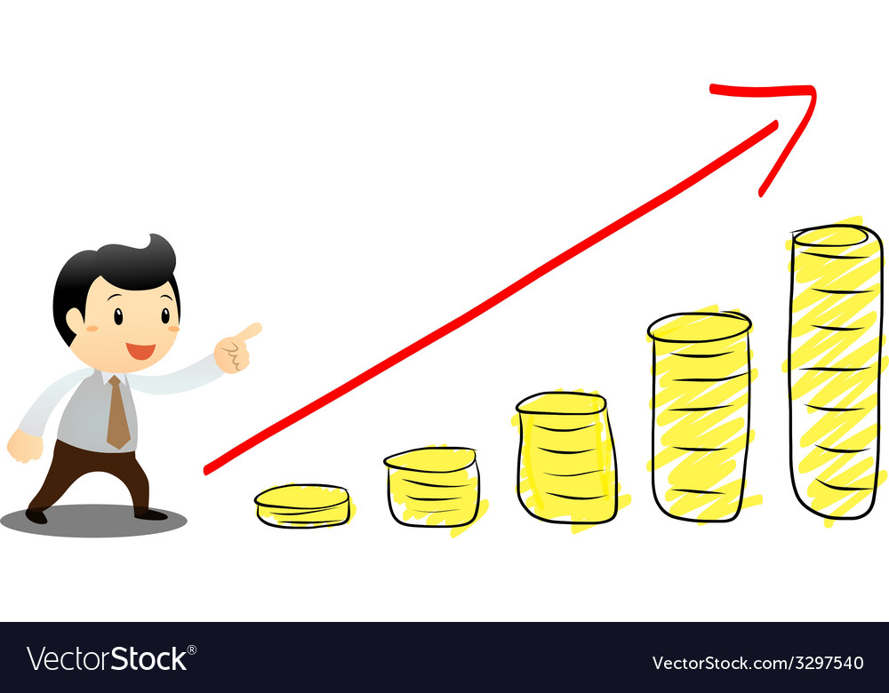 Businessman go to success vector   Price: 1 Credit (USD $1)