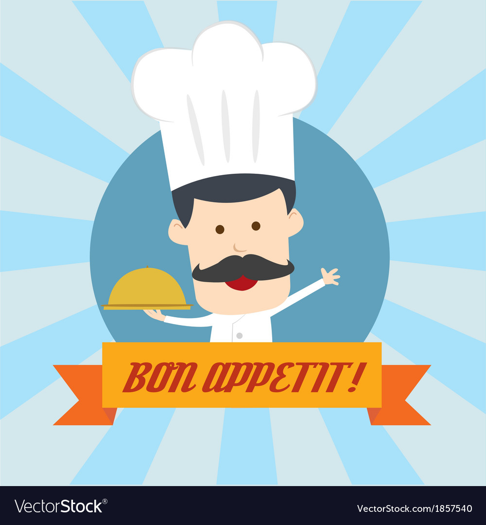 Chef serving food in the dish vector | Price: 1 Credit (USD $1)
