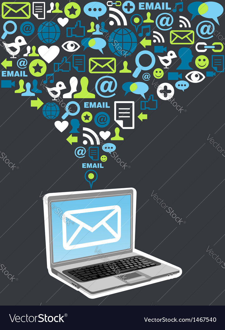 Email marketing campaign icon splash vector | Price: 1 Credit (USD $1)