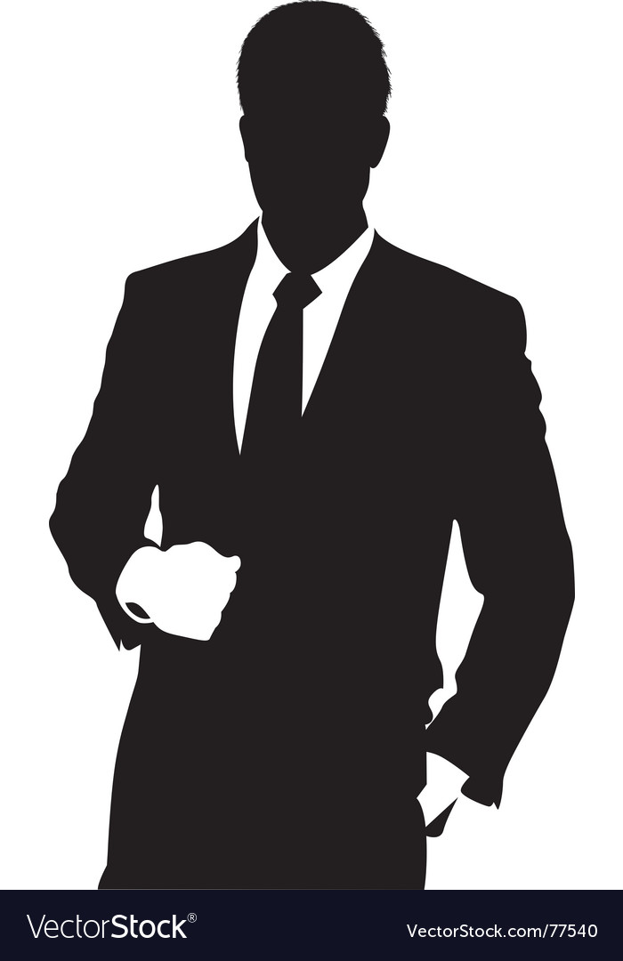 Man in suit vector | Price: 1 Credit (USD $1)