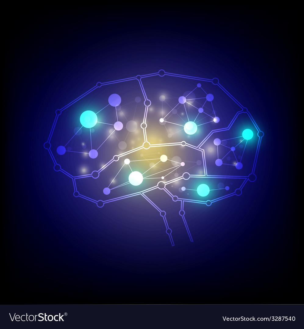 Modern technology brain design vector | Price: 1 Credit (USD $1)