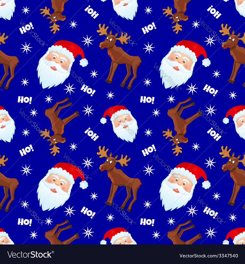 Santa and moose vector | Price: 1 Credit (USD $1)
