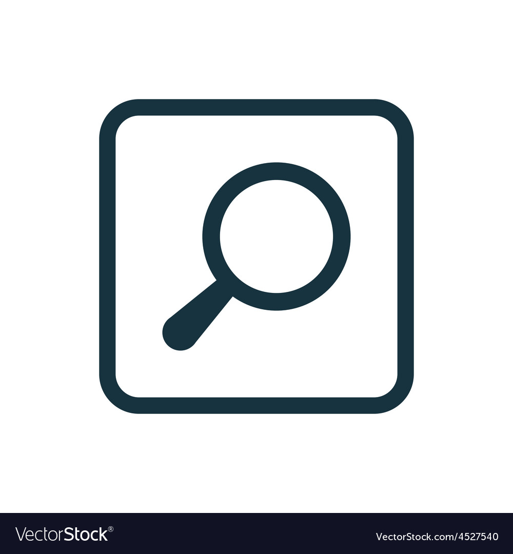 Search icon rounded squares button vector | Price: 1 Credit (USD $1)