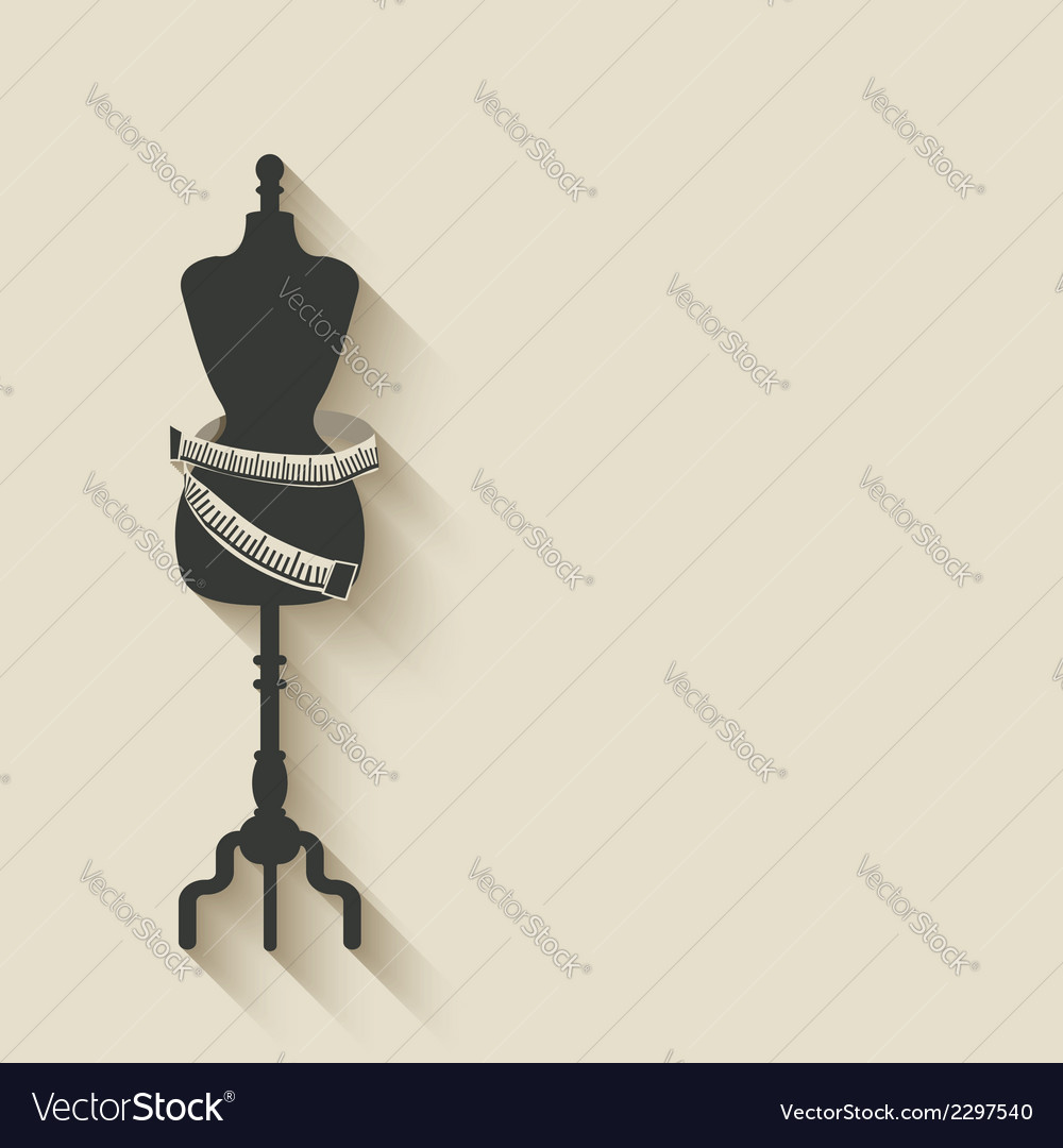 Sewing mannequin background vector | Price: 1 Credit (USD $1)