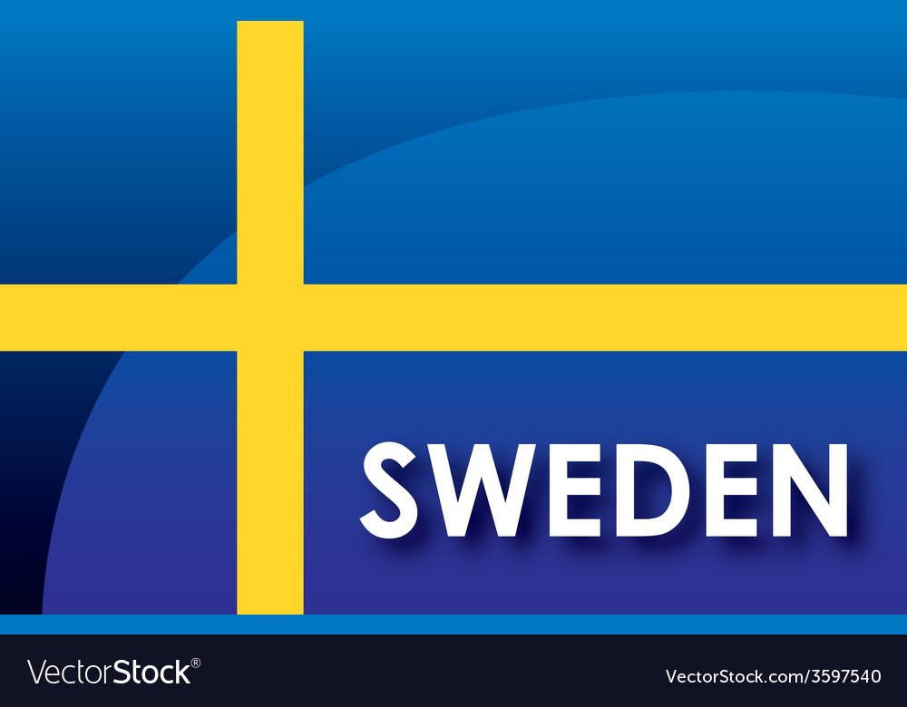 Sweden flag vector | Price: 1 Credit (USD $1)