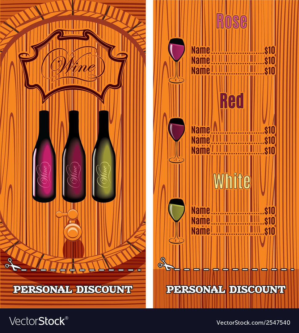 Template for the cover of the wine list menu vector | Price: 1 Credit (USD $1)