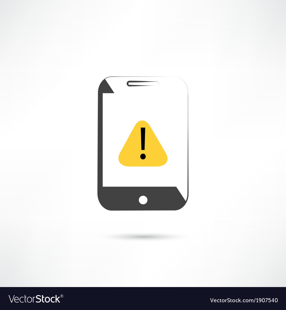 Warning on cellphone vector | Price: 1 Credit (USD $1)