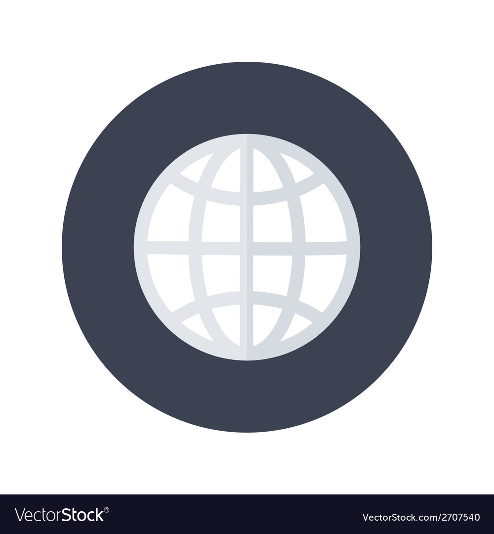 White globe icon over blue vector | Price: 1 Credit (USD $1)