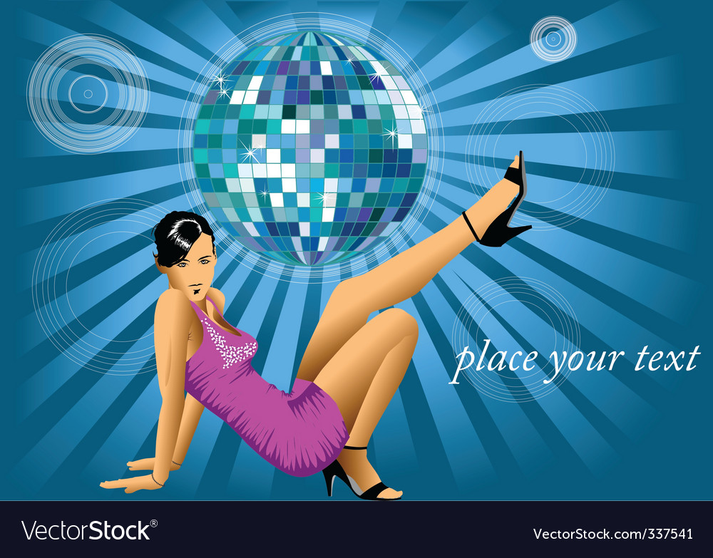Disco dancer vector | Price: 1 Credit (USD $1)