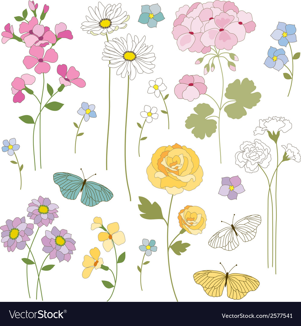 Floral mix vector | Price: 1 Credit (USD $1)