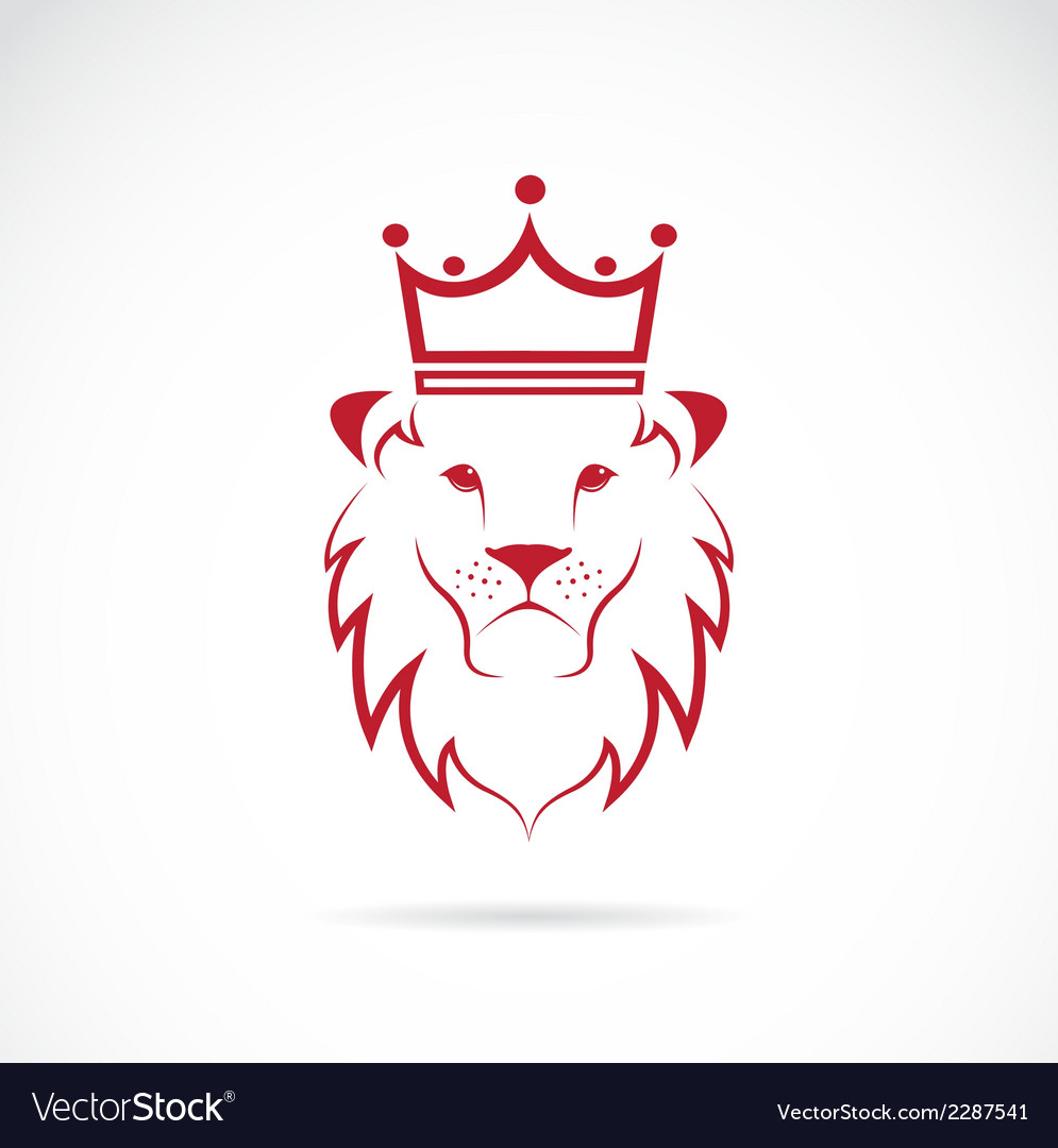 Image of an lion crowned vector | Price: 1 Credit (USD $1)