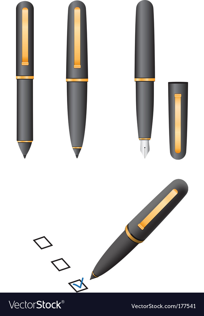 Object pen vector | Price: 1 Credit (USD $1)