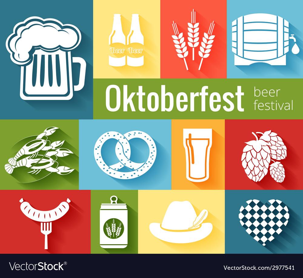 Set of oktoberfest icons vector | Price: 1 Credit (USD $1)