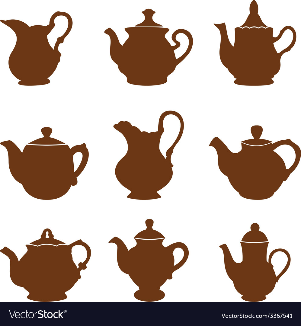 Set of teapot icons vector | Price: 1 Credit (USD $1)