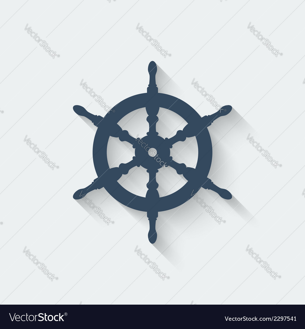 Steering wheel design element vector | Price: 1 Credit (USD $1)