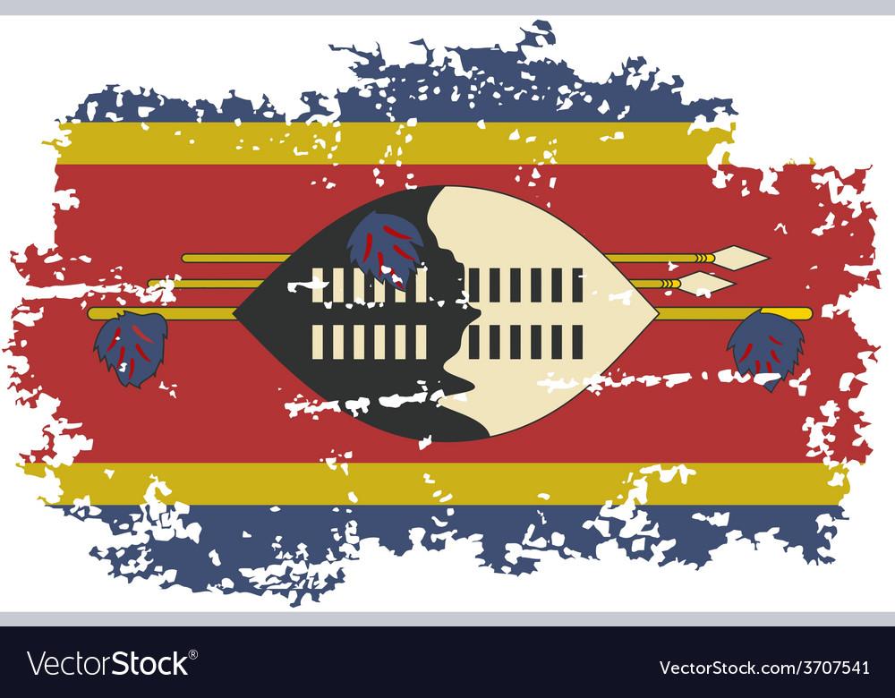 Swaziland grunge flag vector   Price: 1 Credit (USD $1)