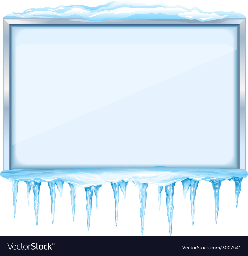 Winter board with icicles vector | Price: 1 Credit (USD $1)