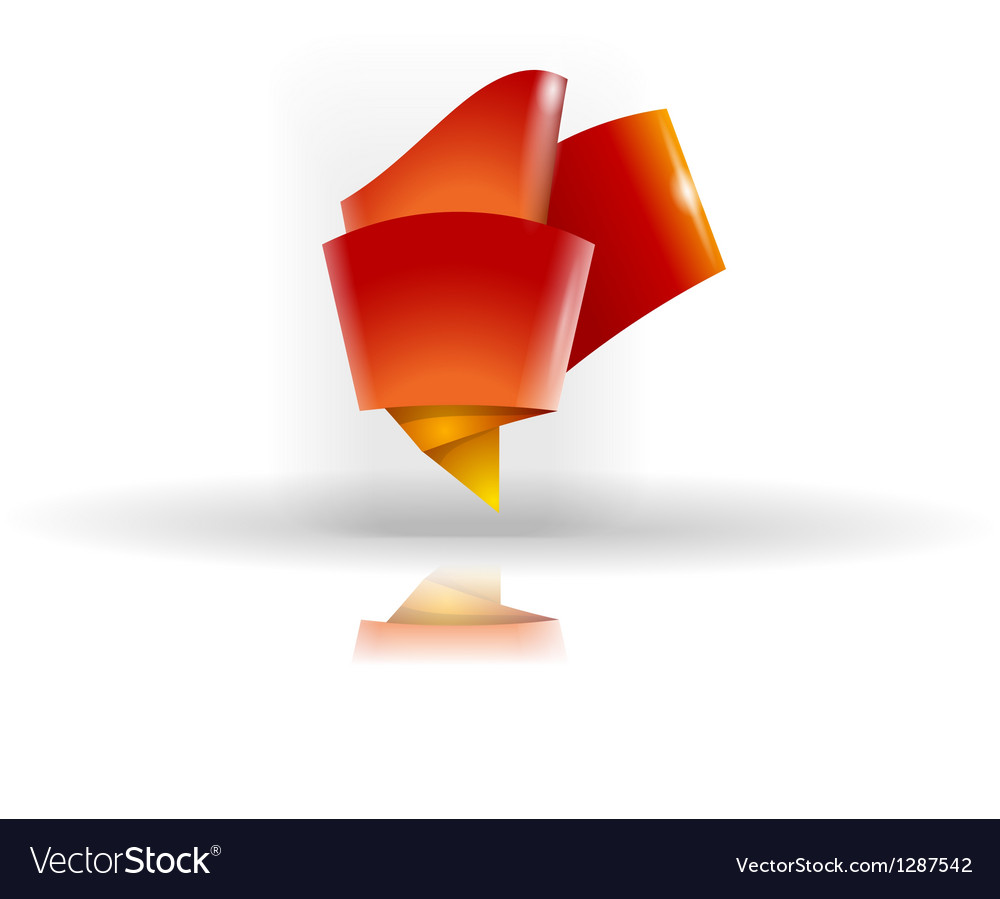 Abstract origami symbol vector | Price: 1 Credit (USD $1)
