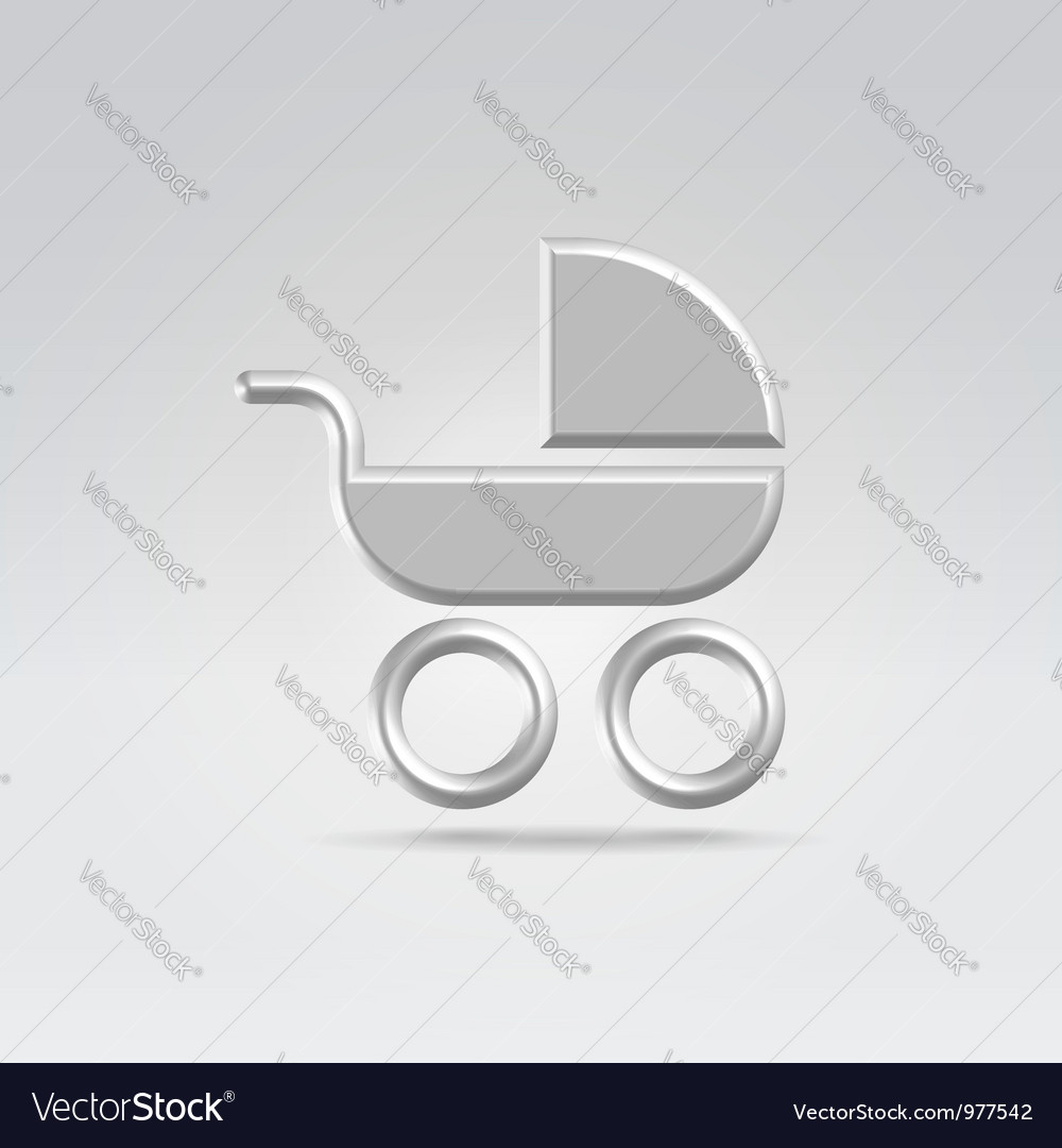 Baby pram carry cot icon vector | Price: 1 Credit (USD $1)