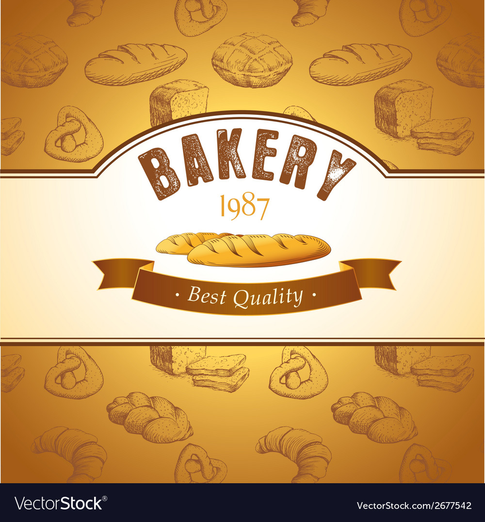 Bakery background design vector | Price: 1 Credit (USD $1)