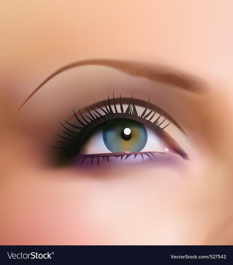 Blue eye vector | Price: 3 Credit (USD $3)