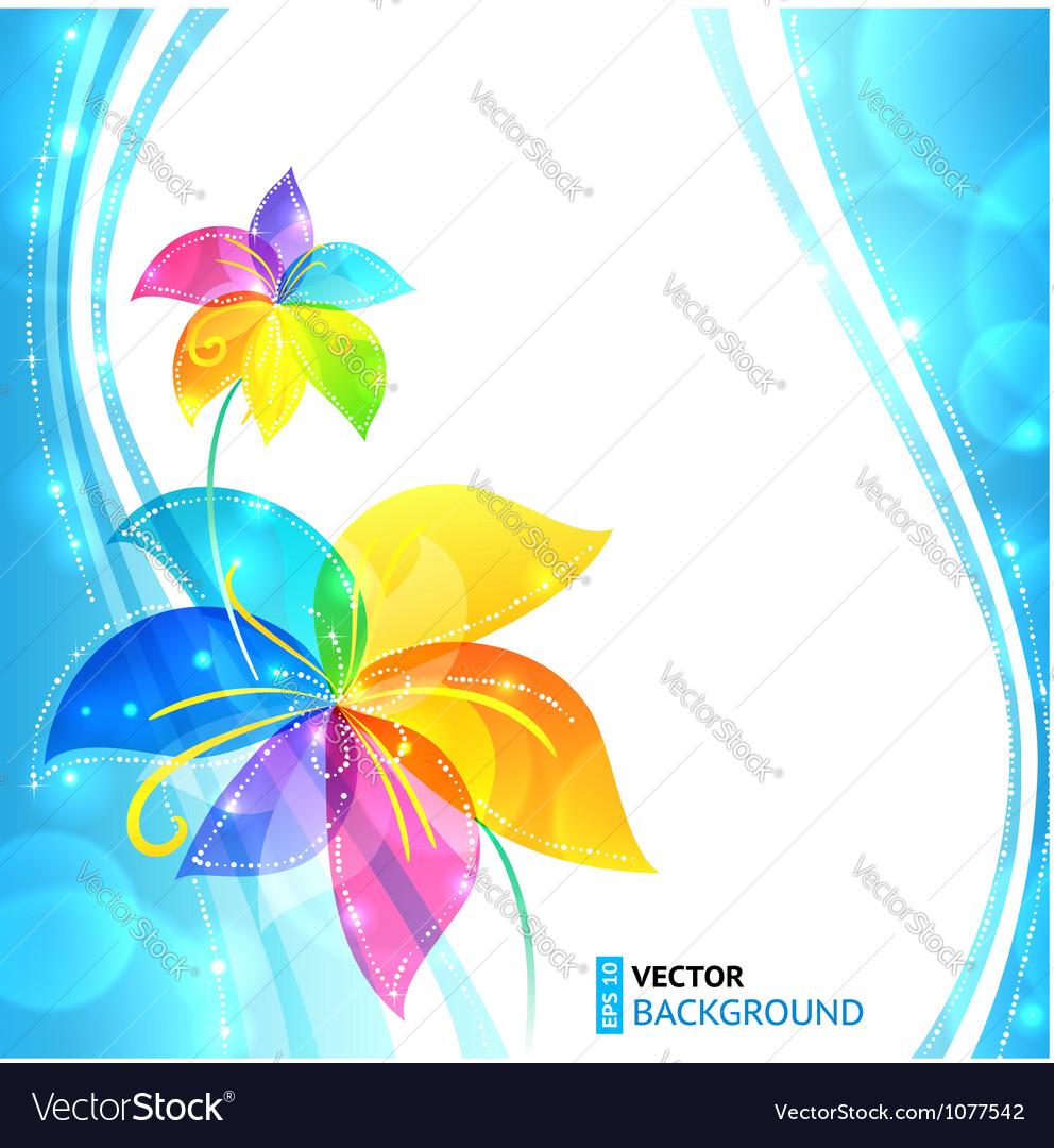 Bright shining flowers background vector | Price: 1 Credit (USD $1)