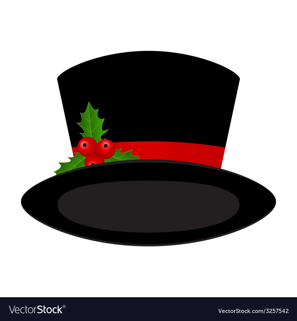Christmas black hat vector | Price: 1 Credit (USD $1)