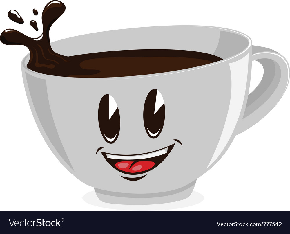 Cute cup of coffee vector | Price: 1 Credit (USD $1)