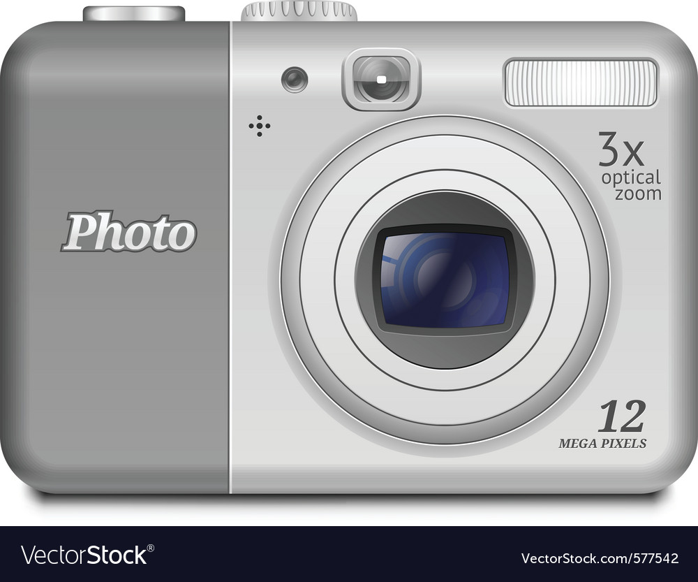Digital compact camera vector | Price: 3 Credit (USD $3)
