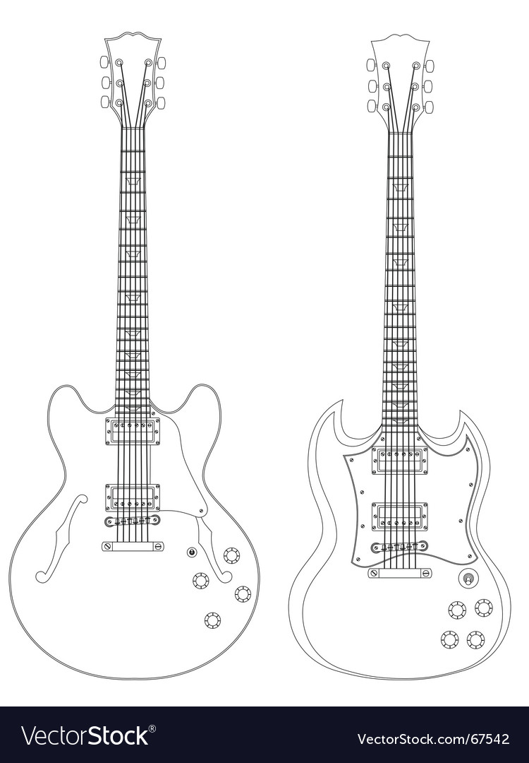 Electric guitars vector | Price: 1 Credit (USD $1)