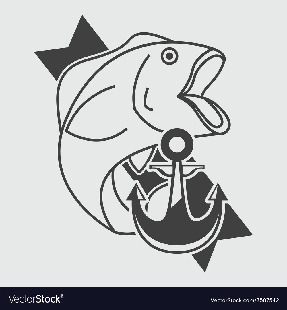 Fishing icon vector | Price: 1 Credit (USD $1)
