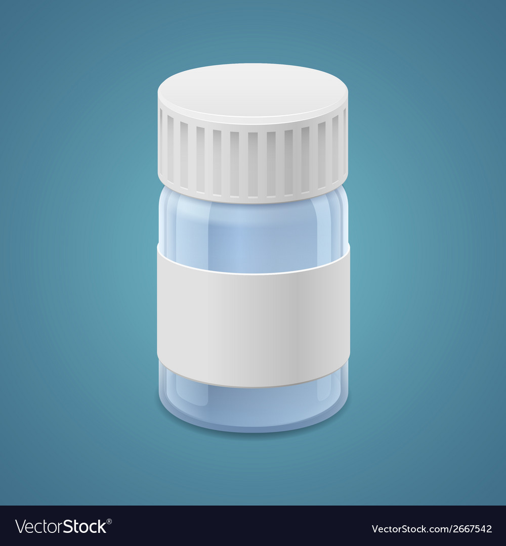 Jar for tablets vector | Price: 1 Credit (USD $1)