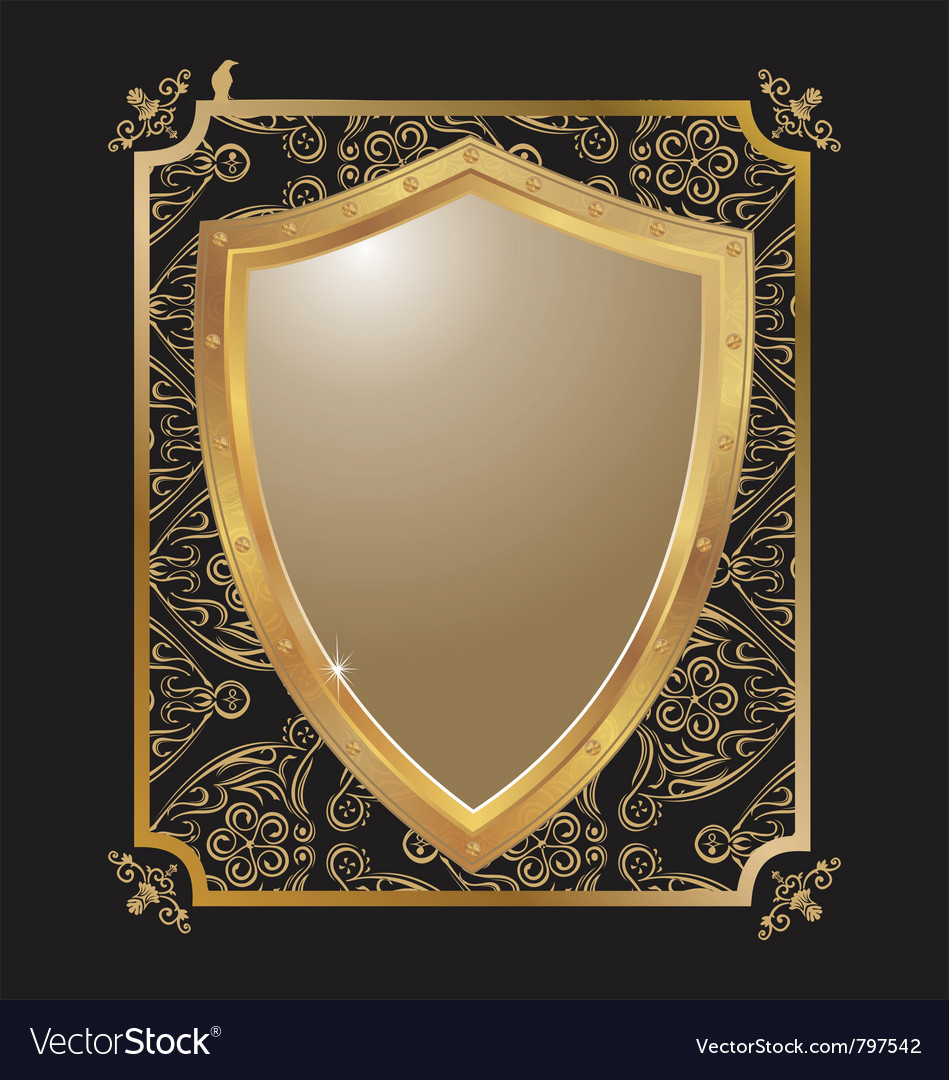 Ornate heraldic shield 2 vector | Price: 1 Credit (USD $1)
