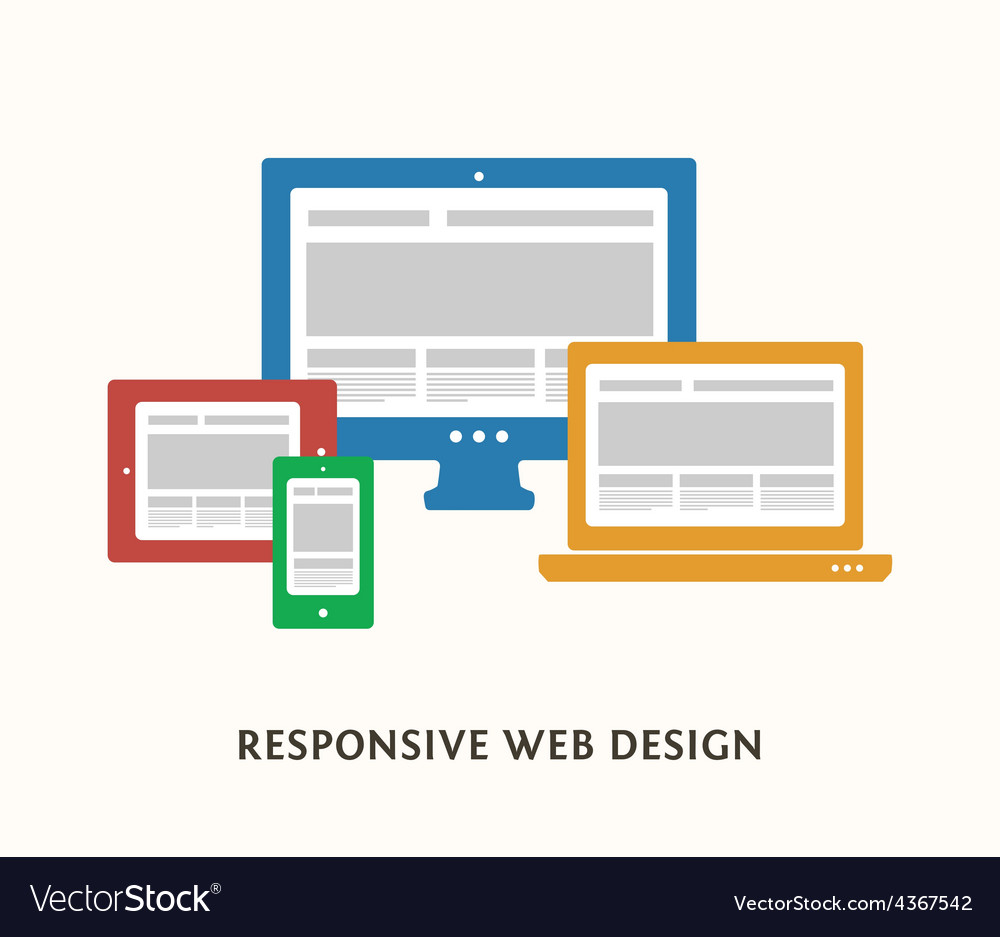 Responsive design vector | Price: 1 Credit (USD $1)