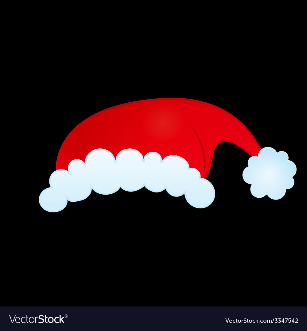 Santas hat vector | Price: 1 Credit (USD $1)