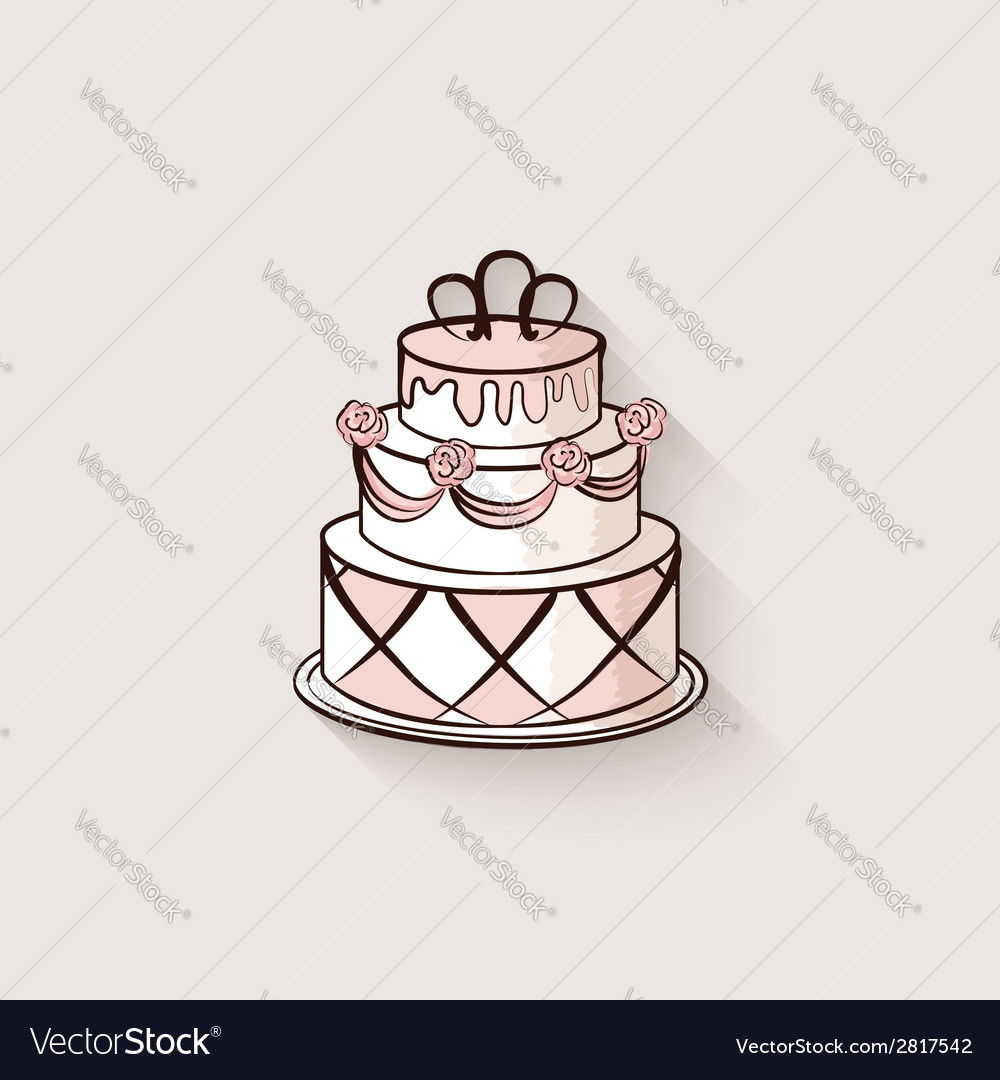 Wedding cake design element vector | Price: 1 Credit (USD $1)