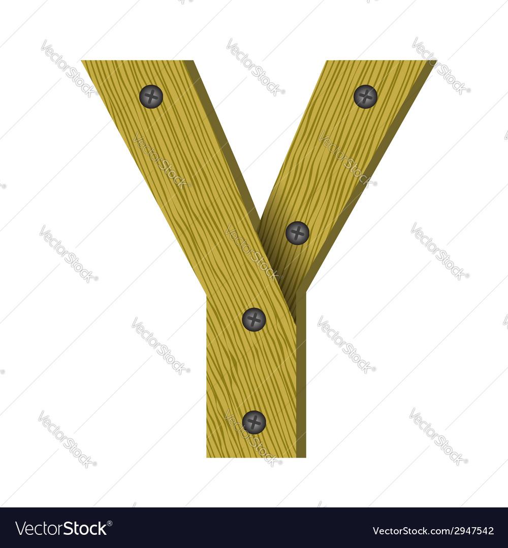 Wood letter y vector   Price: 1 Credit (USD $1)