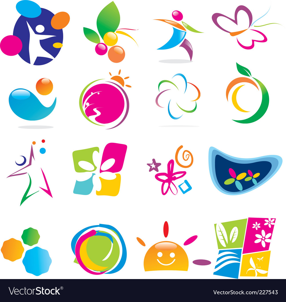 Color of life icons vector | Price: 1 Credit (USD $1)