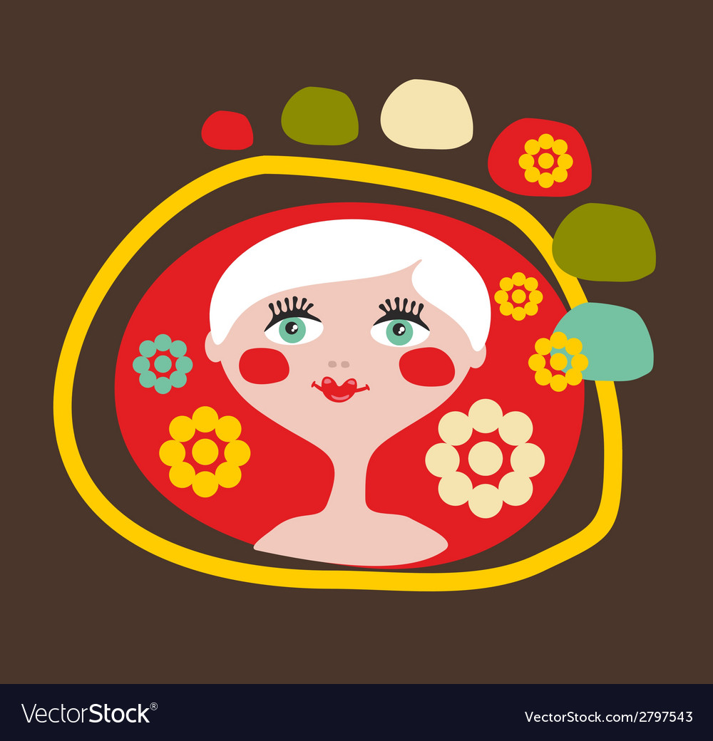 Cute portrait of the blond girl vector | Price: 1 Credit (USD $1)