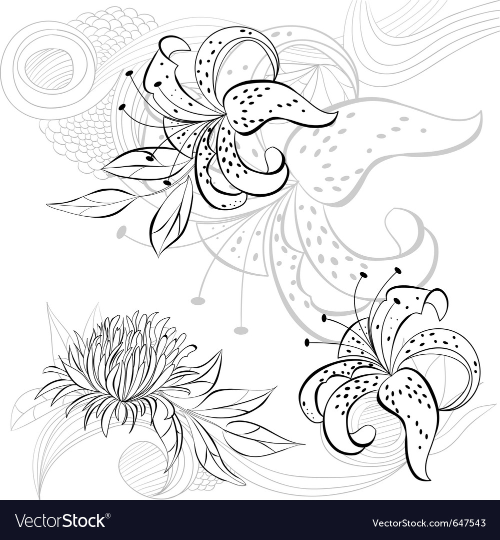 Decorative background with floral element vector   Price: 1 Credit (USD $1)
