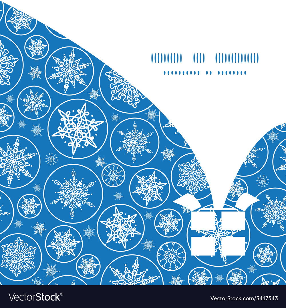 Falling snowflakes christmas gift box silhouette vector | Price: 1 Credit (USD $1)